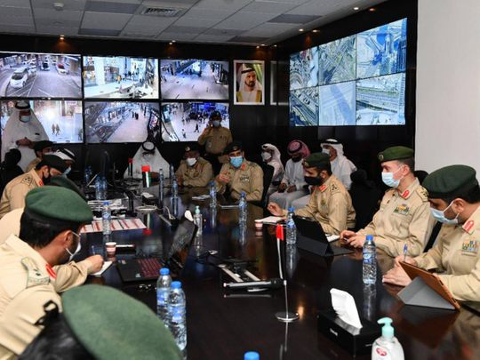 Dubai Police chief inspects Burj Khalifa and Sheikh Mohammed bin Rashid Boulevard operations room for New Year's Eve celebrations