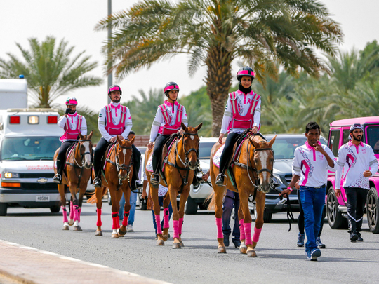 Ride alongside 2021 Sharjah Pink caravan breast cancer awareness this 2021